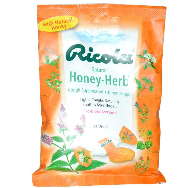 Ricola, Natural Honey Herb, 24 Drops