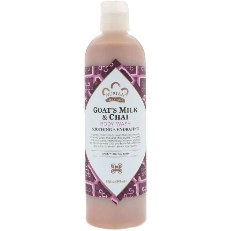 Nubian Heritage, Body Wash, Goat's Milk & Chai, 13 fl oz (384 ml)
