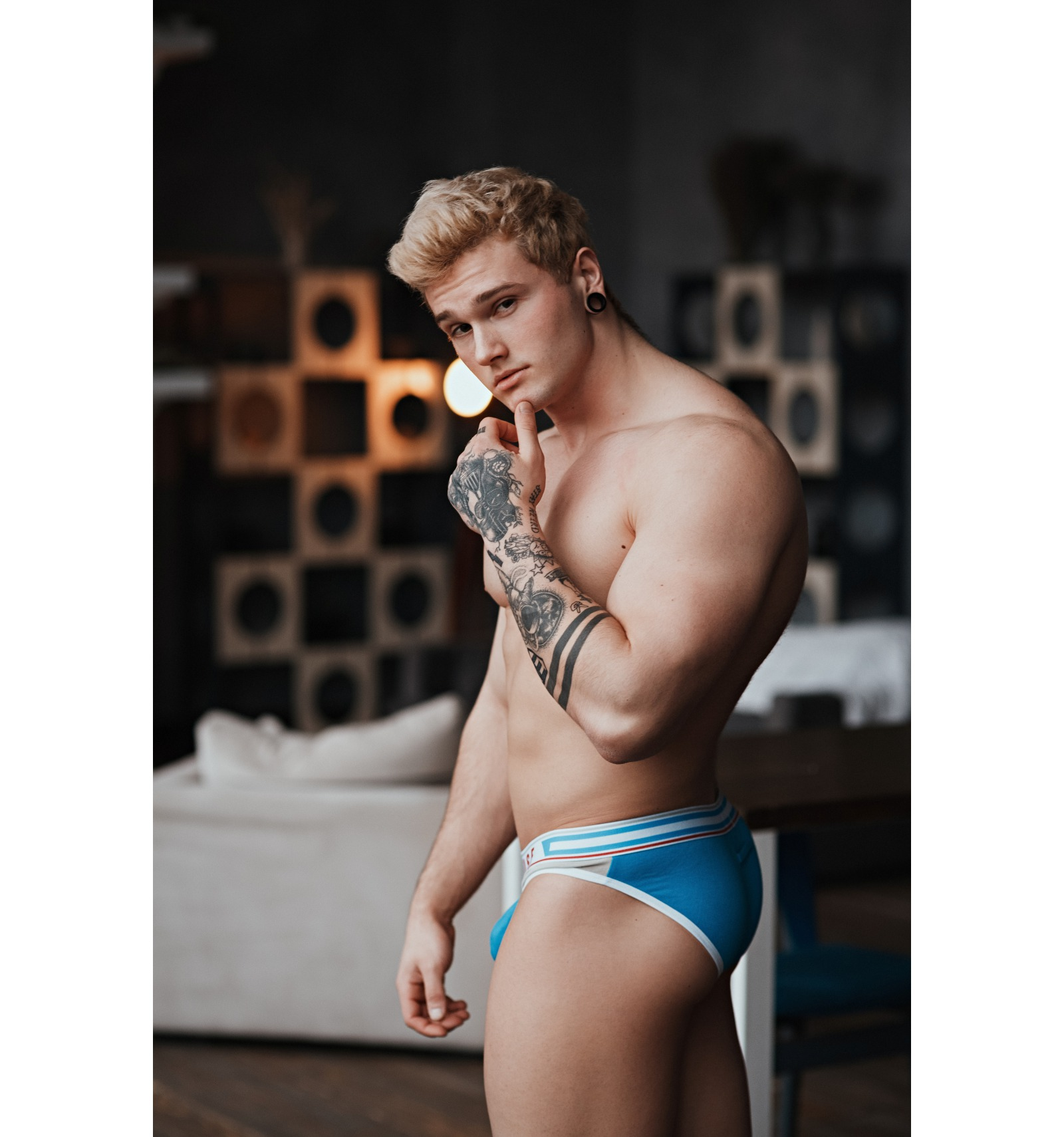 Marcuse Underwear Glory Brief Blue/Grey